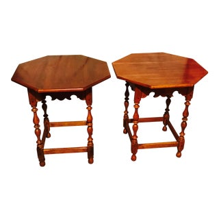 Ethan Allen Maple Side Tables - A Pair