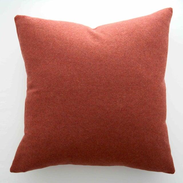 Italian Orange Sustainable Wool Pillow - Image 6 of 6