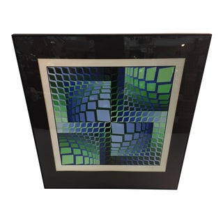 Signed Victor Vasarely Optic Art Lithograph