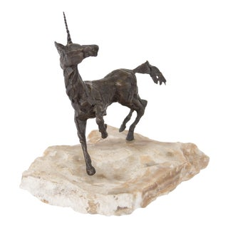 Bronze Unicorn Sculpture by Paul Fairley
