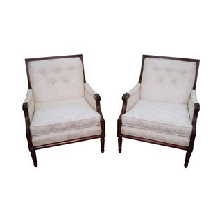 Regency Directoire Style Bergere Chairs