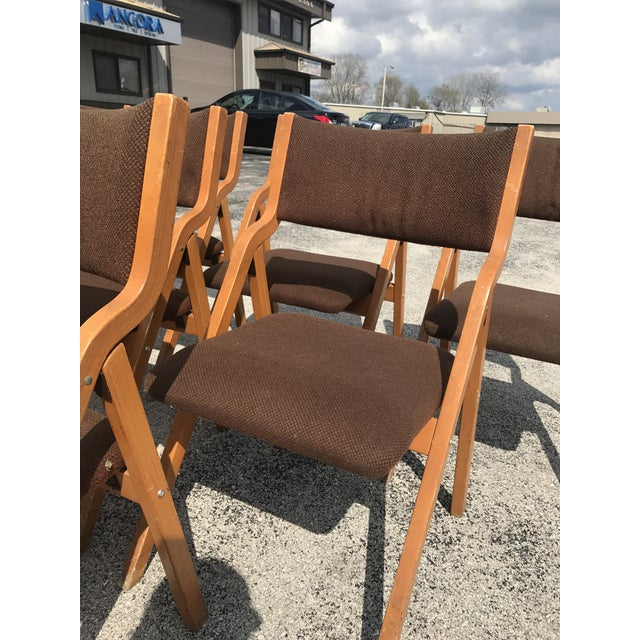 Mid-Century Modern Folding Chairs - Set of 6 - Image 6 of 8