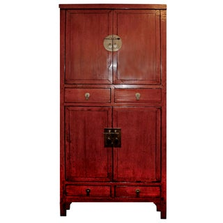 McGuire Asian Antiquity Red Black Lacquer Cabinet