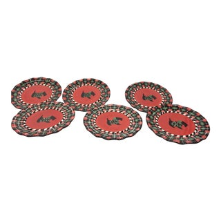 Scottie Dog Buffet, Salad or Luncheon Plates - Set of 6