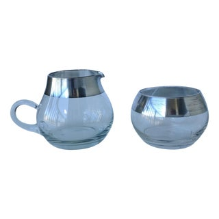 Dorothy Thorpe Sterling Creamer & Sugar - A Pair