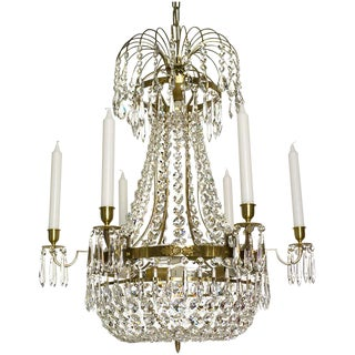 Empire 6 Cognac Octagon Chandelier
