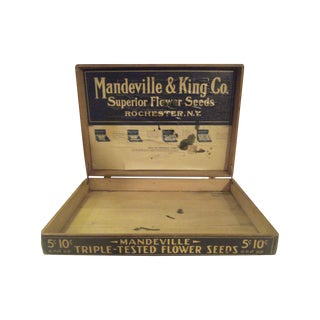 Wooden Seed Advertising Box and Display