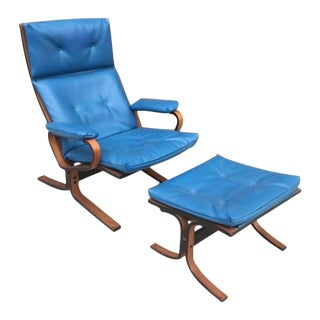 Plycraft Mid-Century Lounge Chair and Ottoman