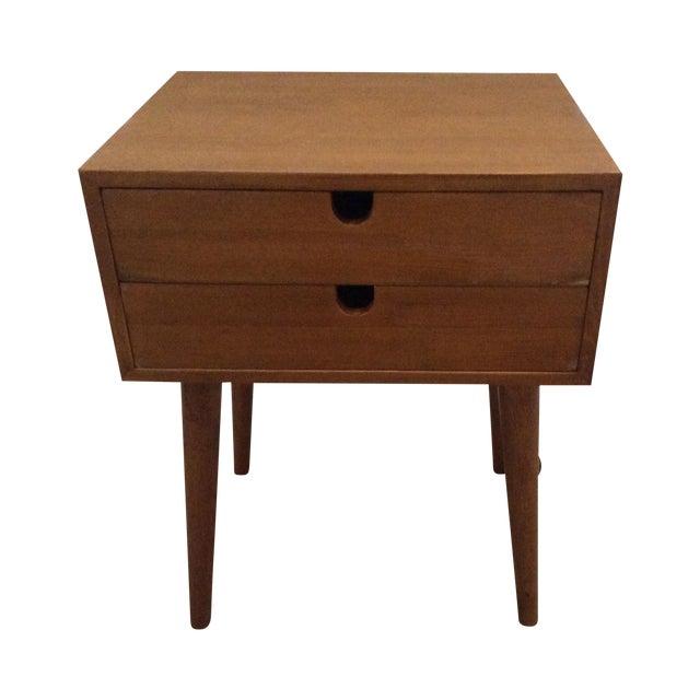Mid-Century Modern 2-Drawer Nightstand - Image 1 of 6