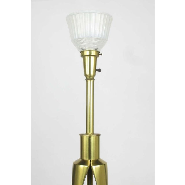 Image of Rembrandt Brass & Azure Blue Table Lamp