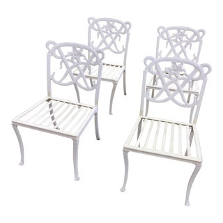Brown Jordan White Day Lily Dining Chairs - Set of 4