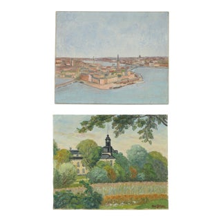 Swedish Gallery Wall Art Paintings - a Pair