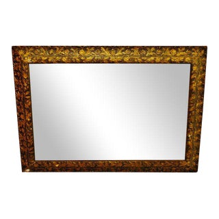 Gold Gilt Gesso Floral Filigree Wall Mirror