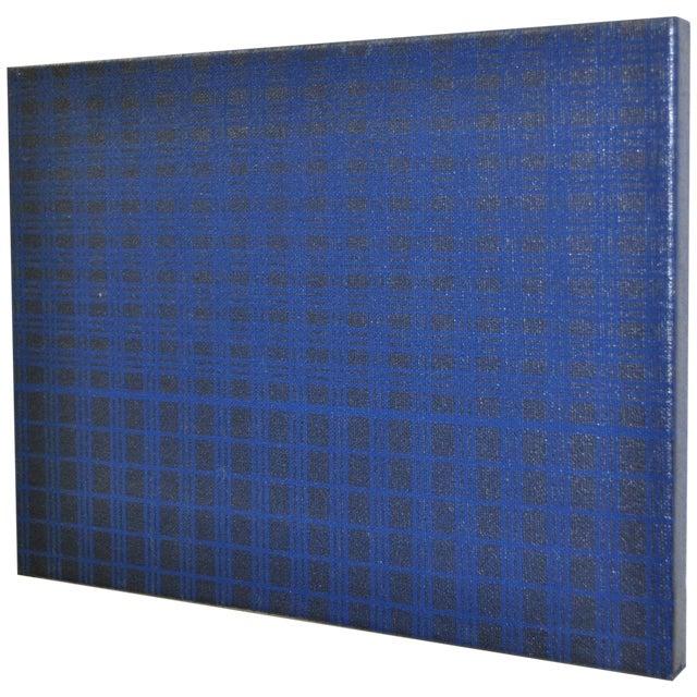 1970's Charles Hersey Blue Vintage Op Art - Image 1 of 5