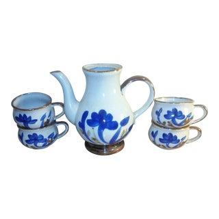Stoneware Pitcher & Mug Set