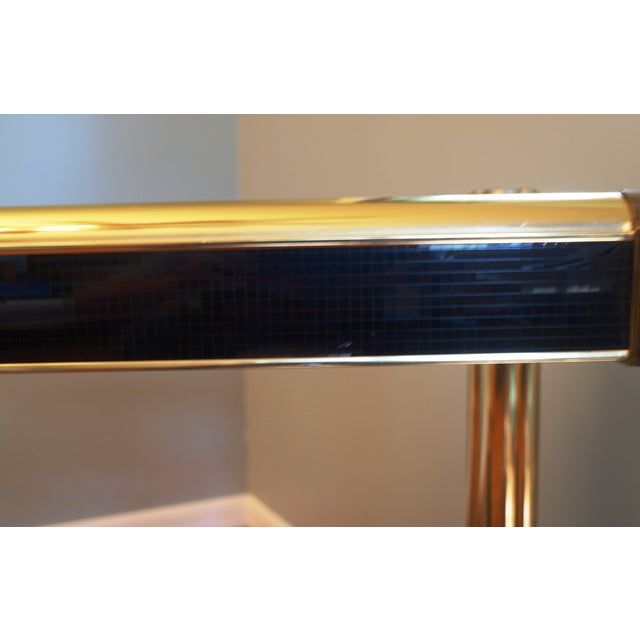 Black Sequin Wrapped Gold Console Table - Image 5 of 9