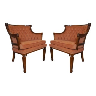 Mid-Century Neoclassical Revival Arm Chairs - A Pair