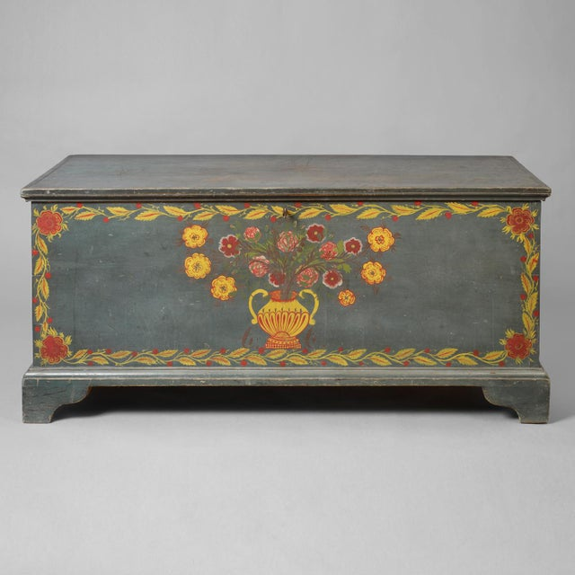 Paint Decorated Blanket Chest - Image 2 of 3