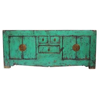 Vintage Green Mongolian Cabinet