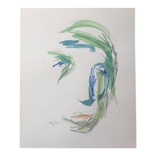 Face Abstract Watercolor Painting