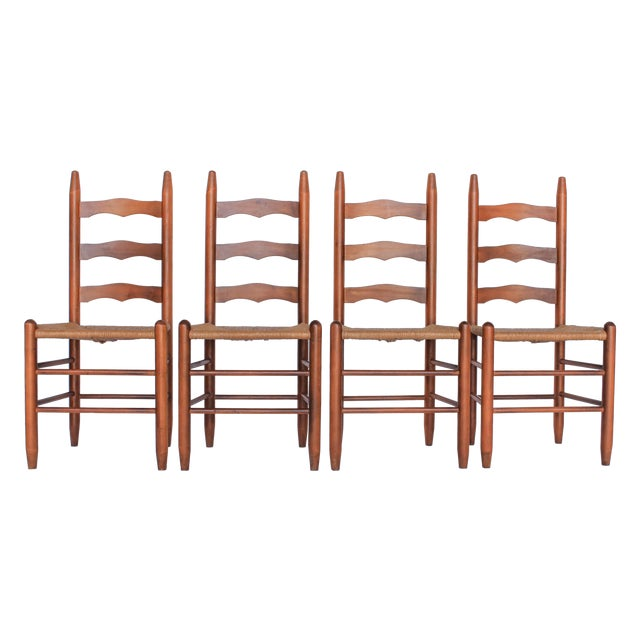 Ladder Back Dining Chairs - Set of 4 - Image 1 of 6