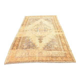 Antique Boho Chic Tribal Unique Handmade Rug - 5′7″ × 8′10″