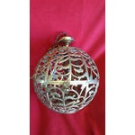 Image of Vintage Asian Brass Pierced Globe Lantern