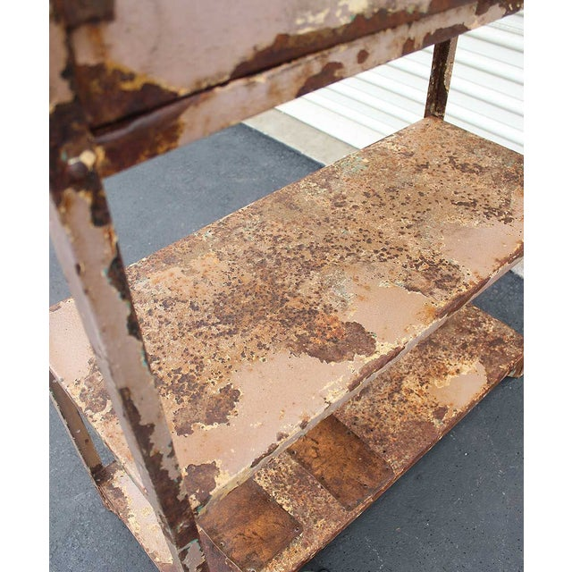 Vintage Industrial Mauve Iron Rack - Image 6 of 6