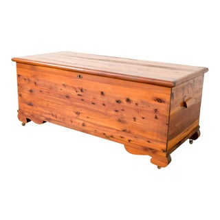 Antique Cedar Blanket Hope Chest