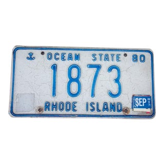 1980 R. I. #1873 License Plate Wall Art