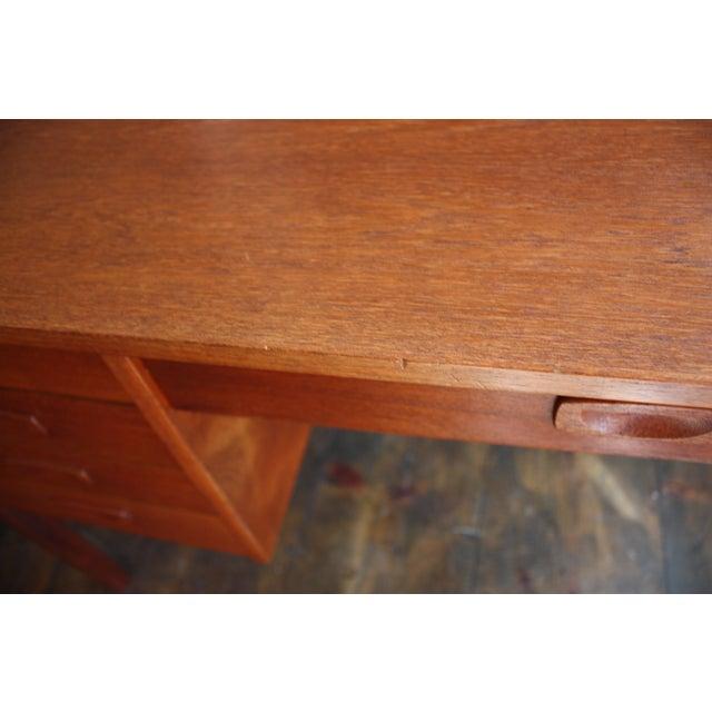 Danish Modern Teak Student Desk - Image 5 of 10