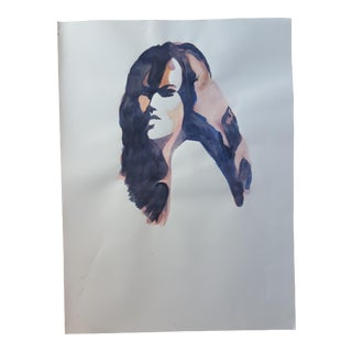 Abstract Female Profile Drawing