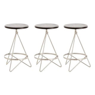 Arteriors Wyndham Swivel Bar Stools - Set of 3