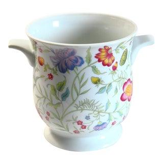 Floral Porcelain Cachepot