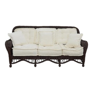 Lane Venture Brown Wicker Patio Sofa