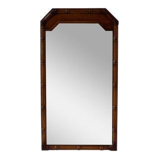 Mid-Century Faux Bamboo Mirror