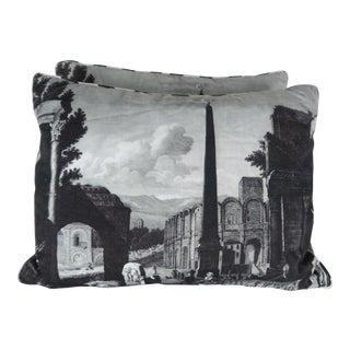 Pair of La Croix Printed Pillows