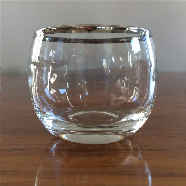 Mid Century Silver Rim Glasses - Set of 9 - Image 8 of 9
