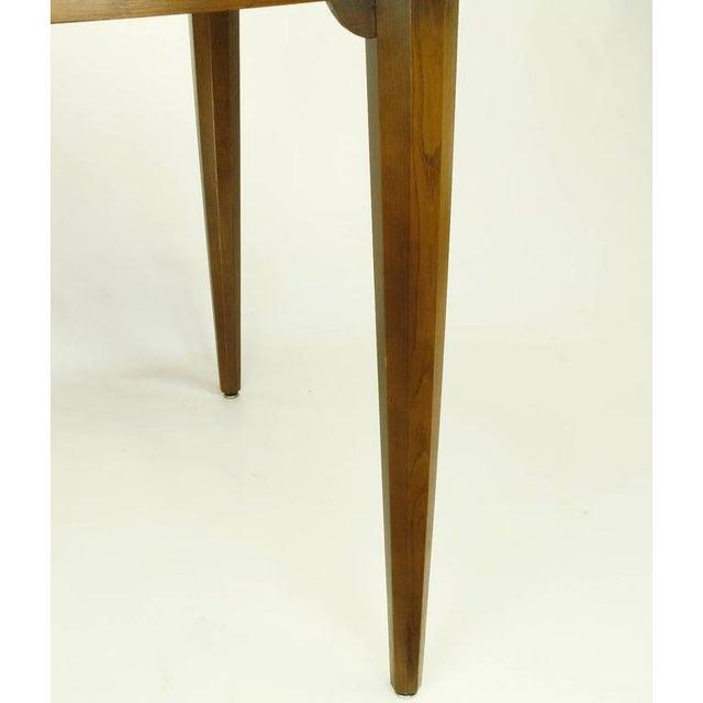 Sleek Modern Walnut Dining Table in the Style of T.H. Robsjohn-Gibbings - Image 6 of 7