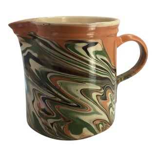 19th Century French Jaspe Pitcher