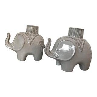 Jonathan Adler Darjeeling Elephant Candle Holders - A Pair