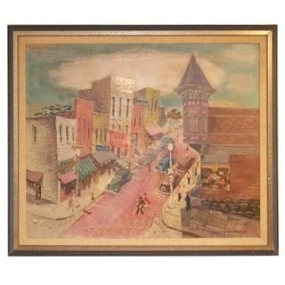 Peter Charles Diem Street Scene Painting