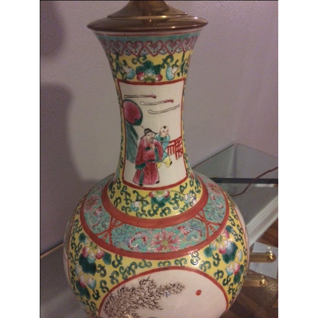 Vintage Chinoiserie Hand-Painted Table Lamp - Image 5 of 5