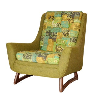 Mid Century Pearsall Style Lounge Accent Chair