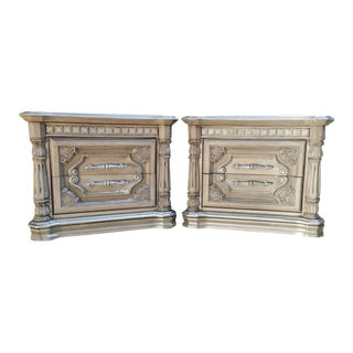 Painted Gray Nightstands - a Pair