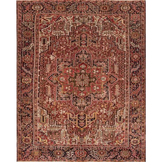 "Apadana - Vintage Persian Heriz Rug, 9'2"" x 11'6"""