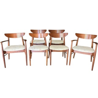 Mid-Century Stanley Walnut Dining Chairs - Set of 6