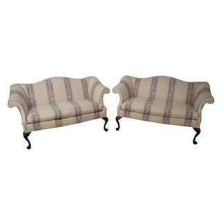 Southwood Mahogany Queen Anne Style Loveseats - Pair