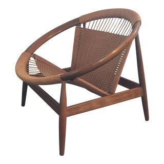 Illum Wikkelso Ringstol Number 23 Teak & Woven Cord Ring Chair