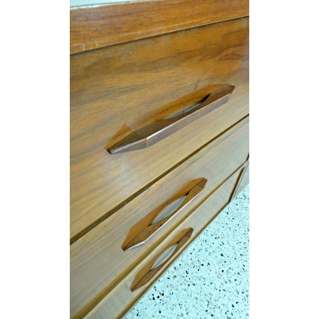 Mid Century Walnut Long Low Credenza - Image 7 of 11
